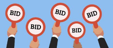 Animated Hands Holding Boards That Representing Bid For Better Education.