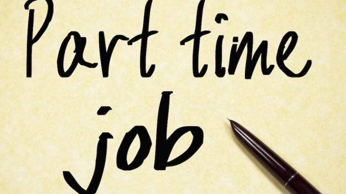 Part Time Job Note Concept.