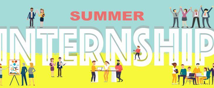An Image Of Summer Internship Concept.