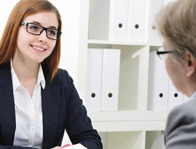 A Woman In An Interview Process For Her Part Time Job Abroad.