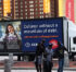 A Brightest Advertising Digital Mobile Billboard Moving Through The City About The Collge Advertisement To Attract Students For Their Higher Education.